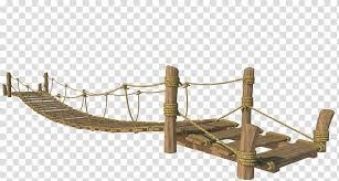 rope bridge brown wooden swing bridge