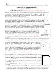 Appello fisica polimi - Docsity