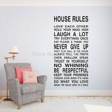 House Rules Quotes Wall Decal Inspirational Art Vinyl Stickers For Living Room Bedroom Decoration Stickers For Sticker For Living Roomvinyl Stickers Aliexpress