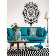 Mandala Flower Indian Bedroom Wall Decal Art Stickers Mural Home Vinyl Family Walmart Com Walmart Com