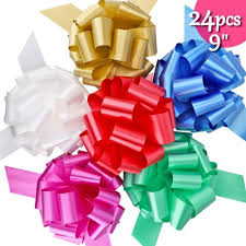 brobery 24pcs gifts bows 9