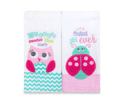 2 piece character burp cloths