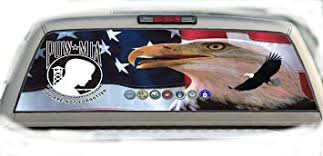 Amazon Com Crabtree Signs Pow Mia 22 Inches By 65 Inches Rear Window Graphics Automotive