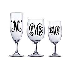 diy vine monogram decal one or three