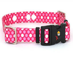 Extreme Dog Fence Invisible Fence Collar Compatible Heavy Duty Replacement Strap With The Rugged Lock Easy Release Clip Pink Dots Medium Up