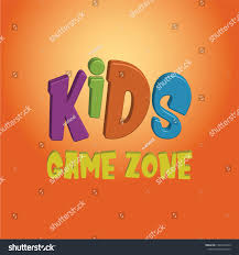 Kids Game Zone Vector Banner Cartoon Stock Vector Royalty Free 1461046259