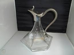 pewter glass wine decanter carafe