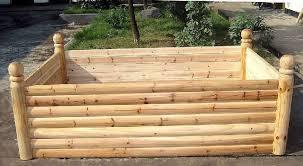 log wood raised bed