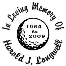 Golf Ball Designer Series Decals In Loving Memory Car Window Decals