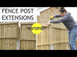 Fitting Fence Post Extensions Above Concrete Posts The Carpenter S Daughter Youtube