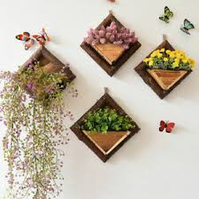 Wooden Plant Flower Pot Garden Wall Fence Hanging Planter Box Basket Decor Uk Ebay