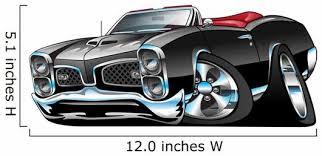 Gto American Muscle Car Wall Decal Wallmonkeys Com