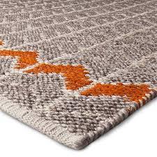 5 x7 flatweave chevron rug gray orange