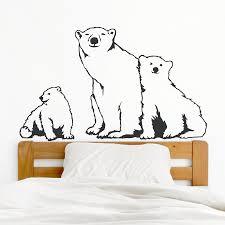 Polar Bear Family Wall Decal