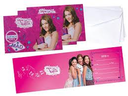 Set De Invitaciones Violetta Amazon Es Hogar