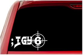 Amazon Com Ur Impressions Igy6 Scope Site I Got Your 6 Decal Vinyl Sticker Graphics For Car Truck Suv Van Wall Window Laptop White 7 5 X 4 Inch Uri614 Automotive