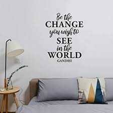 Inspirational Gandhi Quote 13 X 28 Living Room Bedroom Wall Art Decor Be The Change You