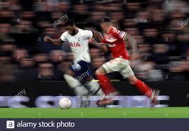 Tottenham Hotspur's Japhet Tanganga runs down the wing past ...