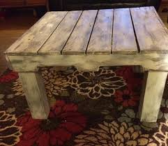 rustic pallet distressed coffee table