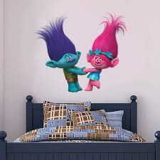 Amazon Com Trolls Wall Sticker Poppy Branch Wall Decal Mural Vinyl Art Kids Bedroom Decor Children 60cm Width X 50cm Height Baby