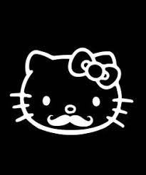 Hello Kitty Mustache Car Decal Stickers Sticker Flare Llc