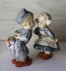 vintage porcelain kissing dutch boy and