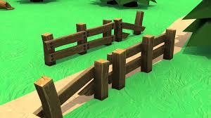 Cartoon Old Broken Wooden Fence 3d Model 6 Obj Fbx 3ds Max Free3d