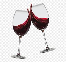 wine glasses cheers png clipart