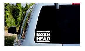 Basshead Bass Music Edm Bass Head Decal Laptop Phone Tumbler Car Sticker Reflective Holographic In 2020 Bass Head Car Stickers Bass Music