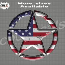 American Flag Star Decal Sticker Star Decal Graphics Etsy