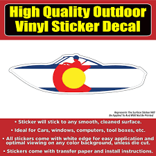 Colorado Flag Speed Boat Vinyl Car Window Laptop Bumper Sticker Decal Colorado Sticker