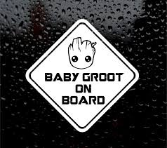 For Baby Groot On Board Guardians Of The Galaxy Decal Logo For Car Van Vinyl Sticker Car Stickers Aliexpress