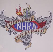 Nhra Drag Racing Tattoo 9 5 X8 5 Decal