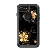 Skin Decal For Otterbox Defender Iphone 7 Plus Or Iphone 8 Plus Case Glowing Flowers Abstract Itsaskin Com