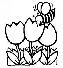 Bee Kleurplaten In Drie Bloemen Kleurplaten Voor Kids Bloemen