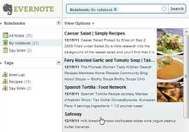 evernote to generate grocery lists