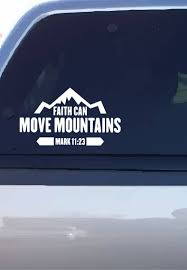 Faith Can Move Mountains Decal Etsy Mountain Decal Move Mountains Faith