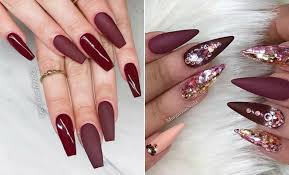 43 chic burgundy nails you ll fall in