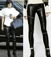 zara faux leather black skinny pants