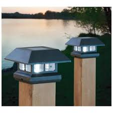 Fence Post Lights Outdoor Style And Security Of Your Home Warisan Lighting