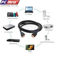 Cáp hdmi 10m hỗ trợ Ethernet 4k 3D tốc đô lền đến 18Gbps PCMAX PCM-2010 -  Hàng Chính Hãng