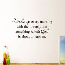 Wake Every Morning Art Vinyl Mural Home Room Decor Wall Stickers Sale Price Reviews Gearbest