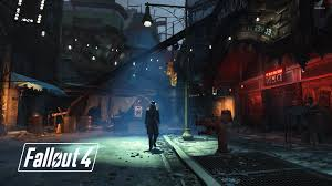 dark street in fallout 4 wallpaper