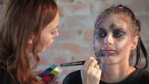 woman professional makeup artist