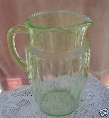 depression glass water pitcher nr