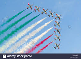 Frecce Tricolori, Italian national air patrol, flying in formation ...