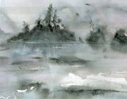 Watercolour, Islands, Coastal, British Columbia, Quadra Island, Perry  Johnston | Painting, Landscape, Watercolor