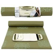 yoga direct 6 feet square mat olive