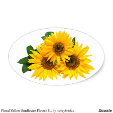 Floral Yellow Sunflower Flower Stickers Zazzle Com Girasoles