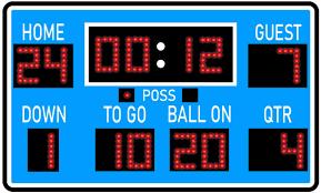 Amazon Com Vwaq Football Scoreboard Wall Sticker Peel And Stick Sports Decor Vinyl Decal Pas30 18 H X 30 W Sky Blue Home Kitchen